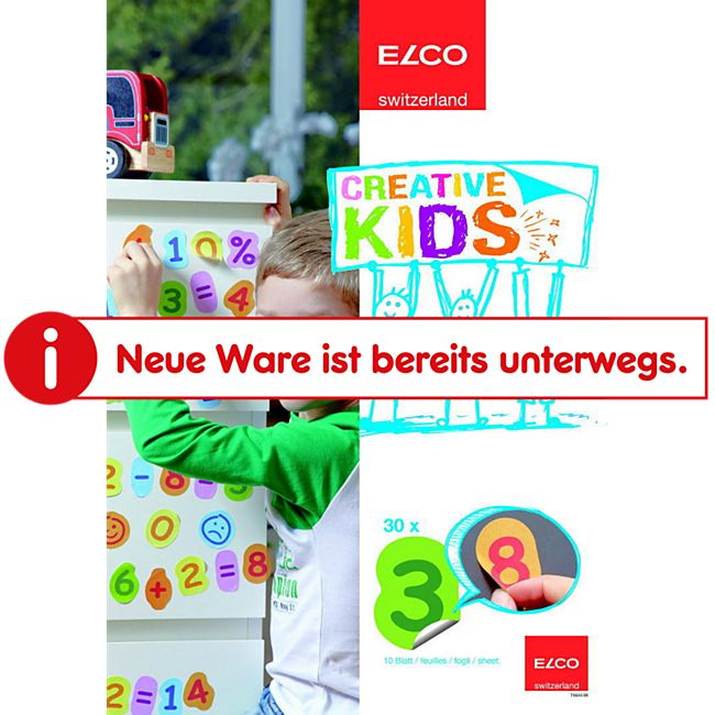 10x30 ELCO A4 Kids Sticker Zahlen Mathematik Basteln Schule lernen einmaleins - Bild 1