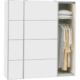 Schwebetürenschrank VERONA Kleiderschrank Schlafzimmerschrank Schrank weiß - Bild 1
