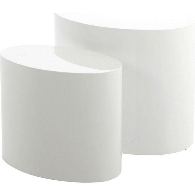 2-er Set PKline Couchtisch Tisch klein Beistelltisch Wohnzimmertisch weiß - Bild 1
