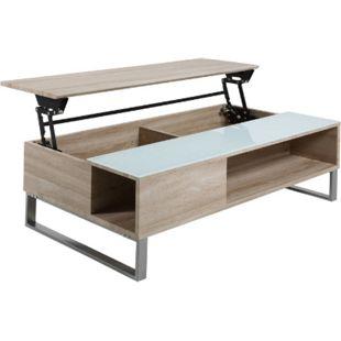 PKline Couchtisch Beistelltisch Wohnzimmertisch Holztisch eiche Hebefunktion - Bild 1