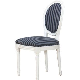 2 x Esszimmerstuhl BAROCK Stuhl Sitz Ess Gruppe Sitzmöbel Massivholz weiß - Bild 1