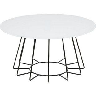PKline Couchtisch Tisch Beistelltisch Wohnzimmertisch rund weiß Sofatisch - Bild 1