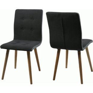 2x PKline Esszimmerstuhl in dunkelgrau Esszimmer Eiche Stuhl Sitzgruppe - Bild 1