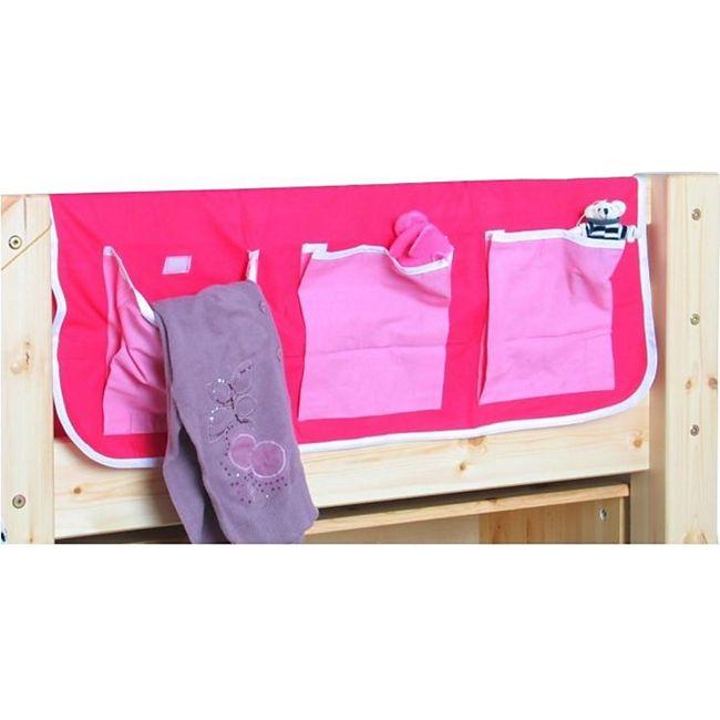 Thuka Stofftasche Betttasche für Hochbett Spielbett Kinderbett Stockbett pink - Bild 1