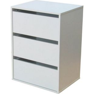 Schubladenelement für Kleiderschrank Aufbewahrung Schrank Zubehör weiß - Bild 1