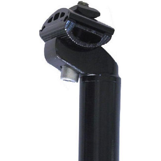 Alu Fahrrad Sattelstütze 350 mm schwarz Aluminium Patentkopf CNC 30,8 mm Neu - Bild 1