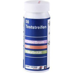 50 Pool Teststreifen pH Chlor Brom Alkalinität - Bild 1