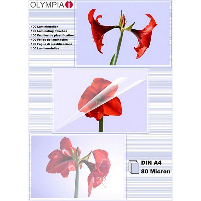 OLYMPIA Laminierfolie, DIN A4, 80 Mikron, 100 Stück - Bild 1