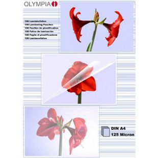 OLYMPIA Laminierfolie, DIN A4, 125 Mikron, 100 Stück - Bild 1