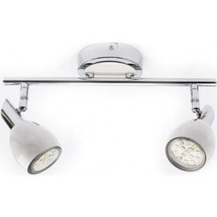 LED Deckenleuchte 2 Spots, EEK A+ (Spektrum: A++ bis E), Chrom/Weiß - Bild 1