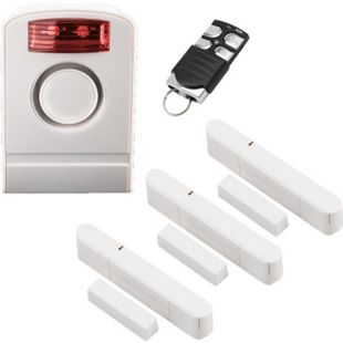 OLYMPIA Premium Spar-Set für die Olympia Alarmanlagen Protect 60xx 90xx Serie mit 1 Außensirene, 1 Komfort Fernbedienung und 3 Tür-/ Fensterkontakten - Bild 1