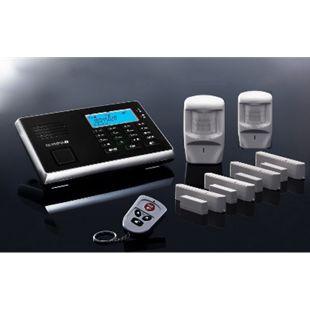 OLYMPIA Protect 9061 Premium Plus Alarmanlage GSM Funk Set mit 2 Bewegungsmeldern, 4 x Tür Fenster/Kontakten und Fernbedienung - Bild 1