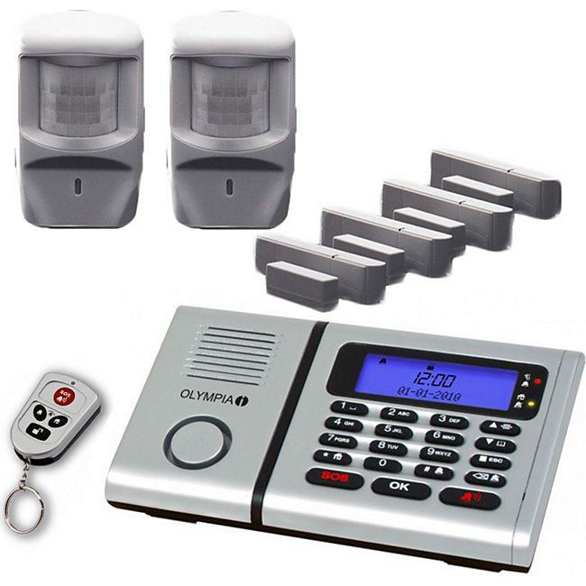 OLYMPIA Protect 6071 Premium Plus Drahtloses Alarmanlagen-Set mit Integrierter Telefonwähleinheit - Bild 1
