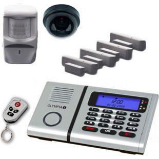 OLYMPIA Protect 6061 Drahtloses Alarmanlagen Set mit 1 Deckenkamera-Attrappe, Bewegungsmelder, Tür/Fensterkontakten und 1 Fernbedienung - Bild 1