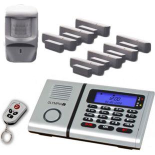 OLYMPIA Protect 6061 Sicherheit Plus Drahtloses Alarmanlagen Set mit 7 Tür/Fensterkontakten, Notruf- und Freisprechfunktion und Integrierter Telefonwähleinheit - Bild 1