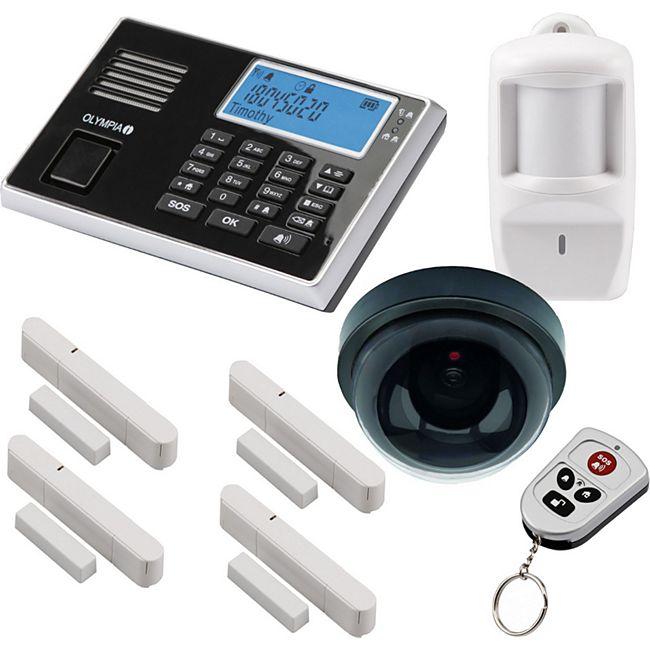 OLYMPIA Protect 9061 GSM Funk Alarmanlagen Set mit Deckenkamera-Attrappe, Bewegungsmelder, Tür Fenster/Kontakten und Fernbedienung - Bild 1