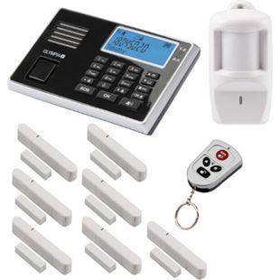 OLYMPIA Protect 9061 Sicherheit Plus Alarmanlagen GSM Funk Set mit 1 Bewegungsmelder, 7 Tür Fenster/Kontakten und Fernbedienung - Bild 1
