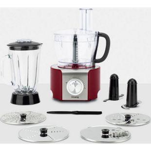 HKoenig MX18 Multifunktions-Küchenmaschine 1,5 L, 800 W, Rot - Bild 1