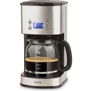 H.KOENIG MG30 Edelstahl Kaffeemaschine, 12 Tassen, Silber - Bild 1
