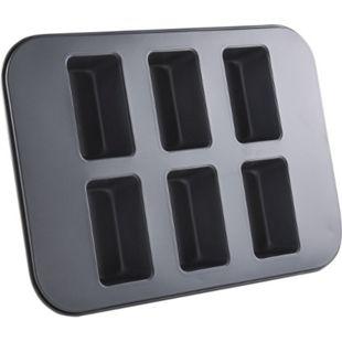 FISKO Mini-Kastenkuchen Backformblech mit 6 Förmchen - Bild 1