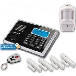 OLYMPIA Protect 9061 Drahtloses GSM Alarmanlagen-Set mit 4 Tür-/Fensterkontakten und Bewegungsmelder - Bild 1