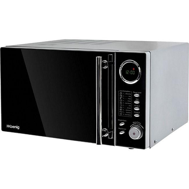 HKoenig VIO9 Edelstahl Mikrowelle mit Grill, 25 L, 900/1000 W - Bild 1