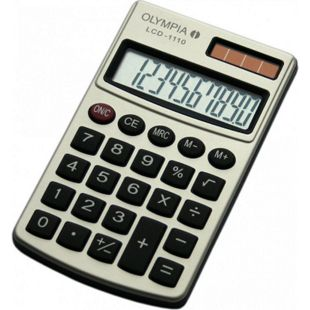 OLYMPIA LCD 1110 Taschenrechner, Silber - Bild 1