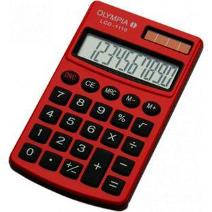 OLYMPIA LCD 1110 Taschenrechner, Rot - Bild 1