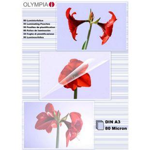 OLYMPIA Laminierfolie, DIN A3, 80 Mikron, 50 Stück - Bild 1
