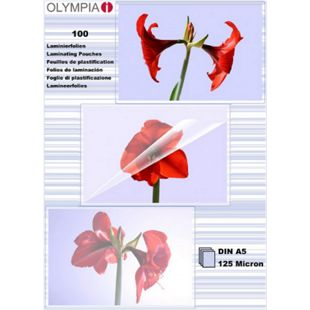 OLYMPIA Laminierfolie, DIN A5, 125 Mikron, 100 Stück - Bild 1
