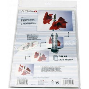 OLYMPIA Laminierfolie, DIN A4, 125 Mikron, 25 Stück - Bild 1