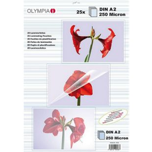 OLYMPIA Laminierfolien DIN A2, 250 Mikron, 25 Stück - Bild 1