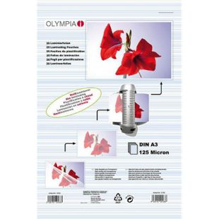 OLYMPIA Laminierfolie, DIN A3, 125 Mikron, 25 Stück - Bild 1
