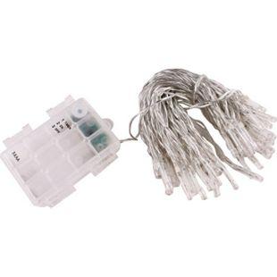 LEX 50er LED Batterie-Lichterkette Weiß mit Timerfunktion, 7,5 m - Bild 1