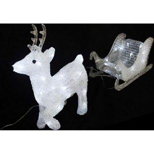 LEX LED Rentier mit Schlitten 50 LEDs - Bild 1