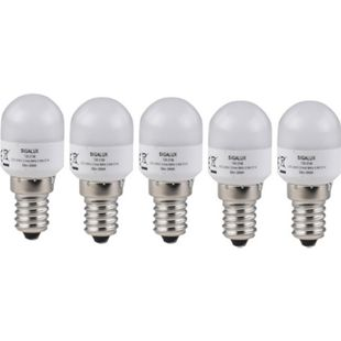 5 Stück SIGALUX LED Kühlschranklampe E14, 0,9W, 55lm, warmweiss - Bild 1