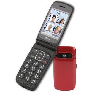 OLYMPIA Primus Senioren Komfort Mobiltelefon, große Tasten, Rot - Bild 1
