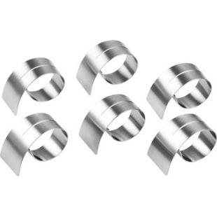 CHG Serviettenringe mit Schlitz, Edelstahl, 6-teilig, 4,2 - 6,5 x 1,8 - 3,6 cm - Bild 1
