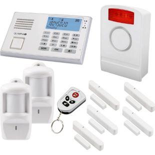 OLYMPIA Protect 9061 Premium Alarmanlagen-Set mit 1 Außensirene, 5 Fenster/Türkontakten und 2 Bewegungsmeldern, Weiß - Bild 1