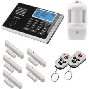 OLYMPIA Protect 9061S Funk Alarmanlage mit 1 Bewegungsmelder, 5 Tür Fenster/Kontakte und 2 Fernbedienungen - Bild 1