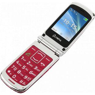 OLYMPIA Style Plus Senioren Komfort Mobiltelefon mit Großtasten, Rot - Bild 1