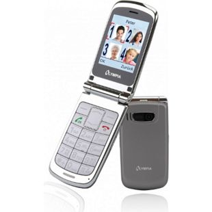 OLYMPIA Style Plus Senioren Komfort Mobiltelefon mit Großtasten, Silber - Bild 1