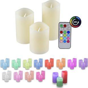 3er Set IOIO LED 48 Echtwachskerzen mit Farbwechsel und Fernbedienung - Bild 1