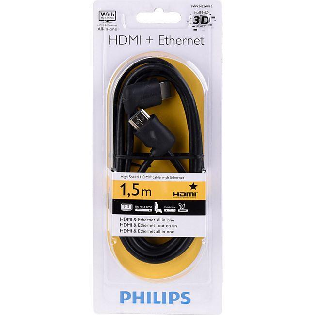 Philips HDMI Kabel Ethernet 1,5 Meter in schwarz SWV 2422 W/10 - Bild 1