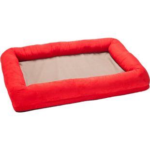 FEINE PFOTE Luxus Orthopädisches VISCO Hundebett, Größe L/rot - Bild 1