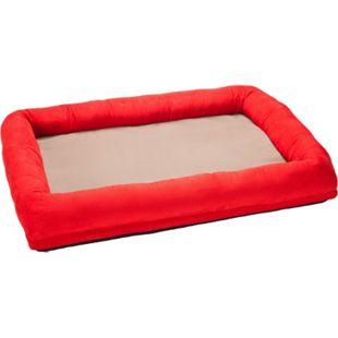 FEINE PFOTE Luxus Orthopädisches VISCO Hundebett, Größe XL/rot - Bild 1