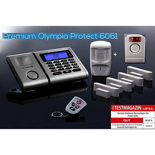 OLYMPIA Protect 6061 Funk Alarmanlage Super-Set mit Außensirene - Bild 1