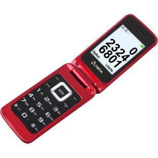 OLYMPIA Luna Senioren Mobiltelefon Handy mit großen Tasten Rot - Bild 1