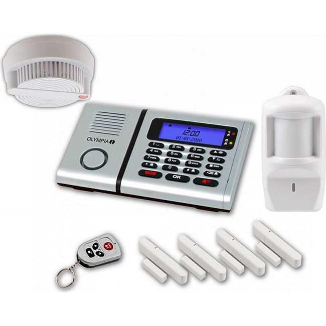 OLYMPIA Protect 6060 plus Alarmanlagen Set mit 4 Tür-/Fensterkontakten Rauchmelder und Bewegungsmelder - Bild 1