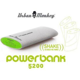 EASYPIX PowerBank Urban Monkeys, 5200 mAh, Grau - Bild 1